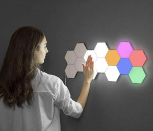 Hexagonal Modular Touch Lights - Carteese