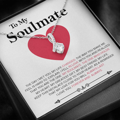 To My Soulmate - Forever and Always - Necklace - Carteese