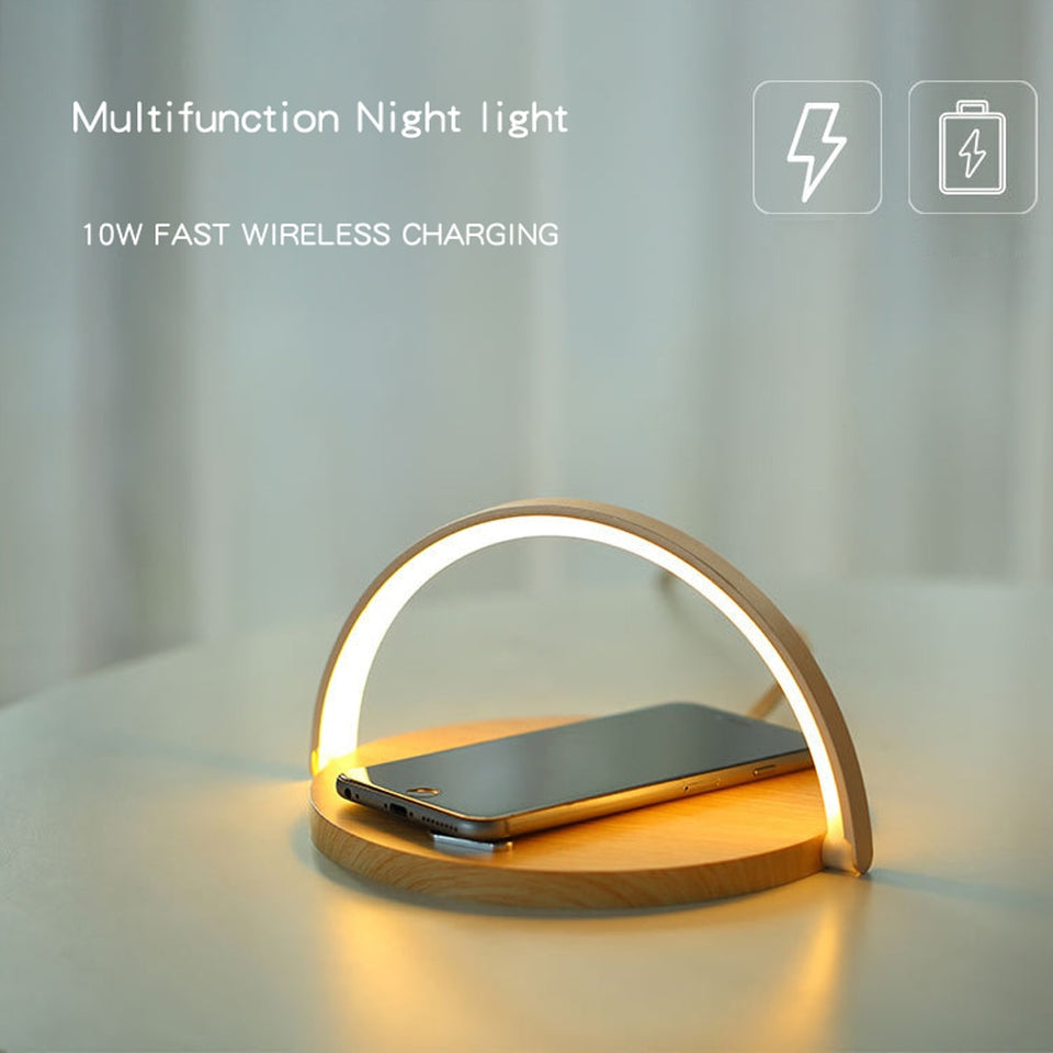Smart LED Night Light & Qi Wireless Charger - Carteese