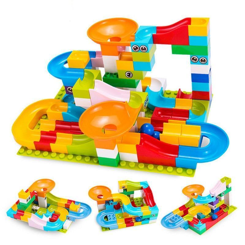 Crazy Marble Run Blocks - Carteese