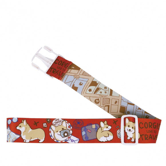 Uma hana Waterproof Luggage Strap | 行李束帶 | UMA200 | Baby Corgi Red