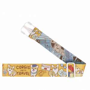 Uma hana Waterproof Luggage Strap | 行李束帶 | UMA200 | Baby Corgi Yellow