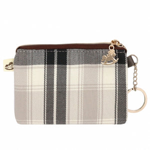 Coin Purse with Keyring | 小零錢包 | UMA193 | Checkered White