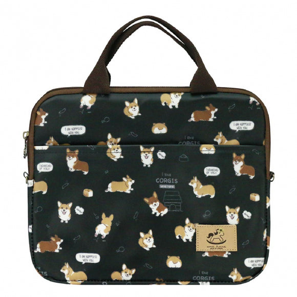 10-inch Ipad Bag | UMA227 | Baby Corgi Black