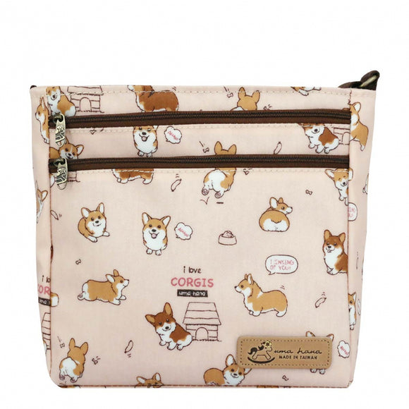 Big Bento Hand Bag (Button) 伴手禮袋 | UMA213 | Baby Corgi Pink