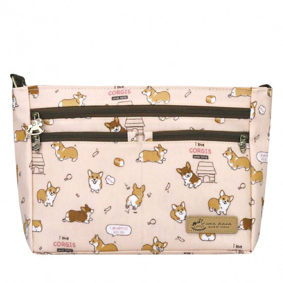 5 Zipper Crossbody Bag | 五拉包 | UMA087 | Baby Corgi Pink