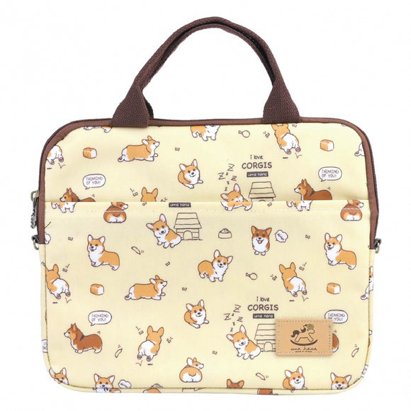 10-inch Ipad Bag | UMA227 | Baby Corgi Yellow