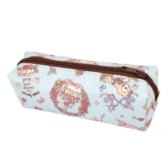 Double Zipper Wristlet Storage Bag | UMA205 | Beautiful Carriage Lake Blue