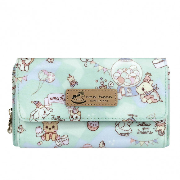 Clutch Wallet with Strap | UMA140 | Carnival Lake Green