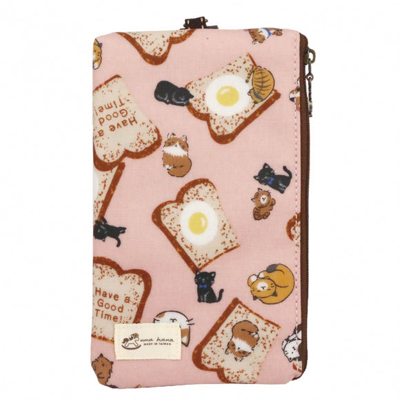 Waterproof Lanyard Hp Pouch 6 Inch | UMA121 | Cat and Toast Pink