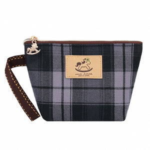 Dumpling Cosmetic Pouch (S) | UMA007CH | Checkered Black