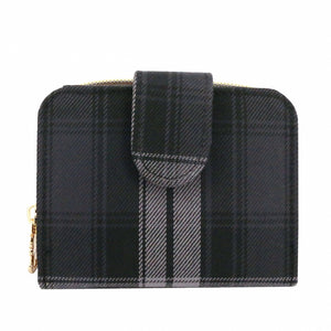 Checkered Button Short Wallet | 短夾 | UMA215CH | Checkered Black