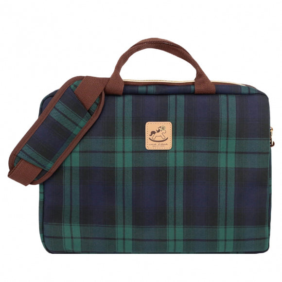 Checkered 14-Inch Laptop Bag | UMA037CH | Checkered Green