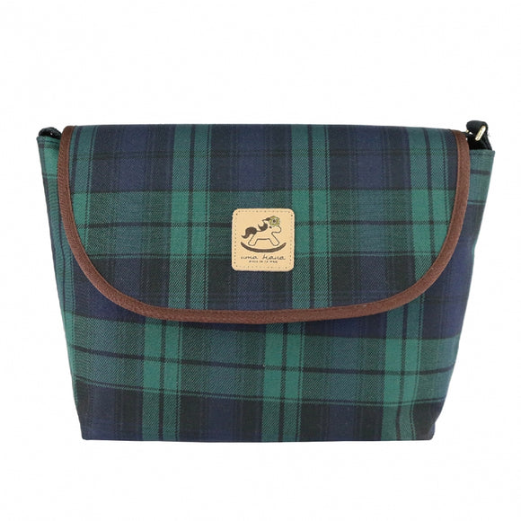 Uma hana Waterproof Checkered Messenger Crossbody Bag | 中側背包 | UMA045CH | Checkered Green