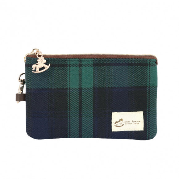 *Exclusive online* Waterproof Checkered MuFe Crossbody Bag | UMA180CH | Checkered Green