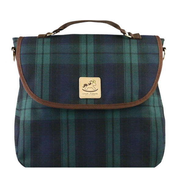 Checkered 3 Ways Bag | UMA044CH | Checkered Green