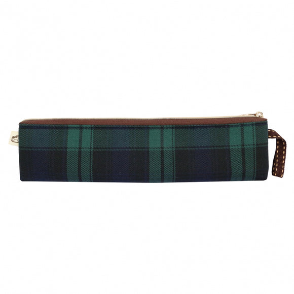 *Exclusive online* Waterproof Checkered Long Chopstick Pouch | UMA216CH | Checkered Green