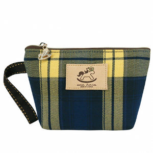 Dumpling Cosmetic Pouch (S) | UMA007CH | Checkered Navy
