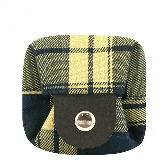 Box Coin Pouch | UMA232CH | Checkered Navy