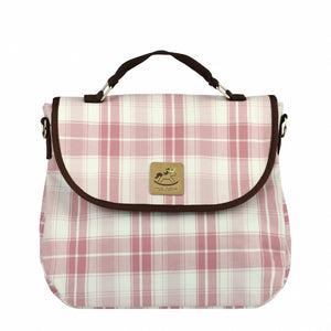 Cube Cosmetic Pouch | UMA019CH | Checkered Pink
