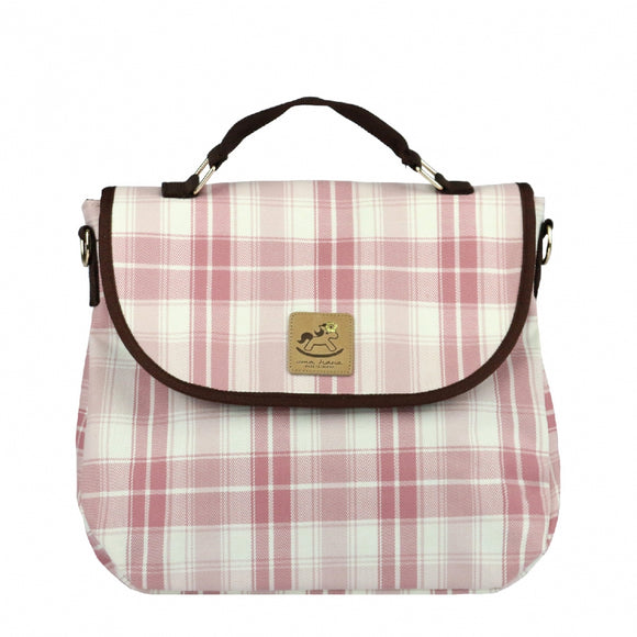 *Exclusive online* Waterproof Checkered Cube Cosmetic Pouch | UMA019CH | Checkered Pink