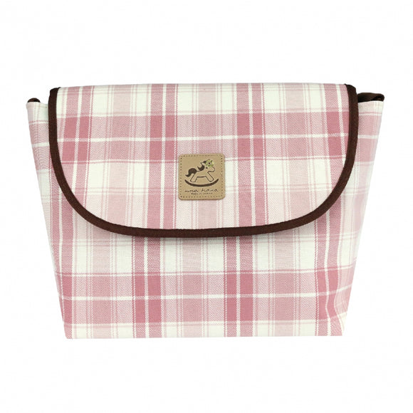 Uma hana Waterproof Checkered Messenger Crossbody Bag | 中側背包 | UMA045CH | Checkered Pink