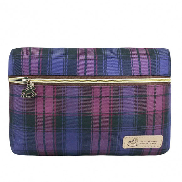 *Exclusive online* Waterproof Checkered Crossbody Nanita Bag | UMA202CH | Checkered Purple