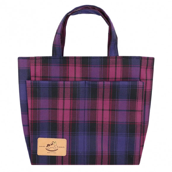 Double Pocket Bag | UMA005CH | Checkered Purple