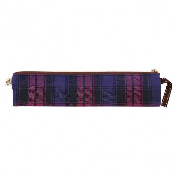 Checkered Long Chopstick Pouch | UMA216CH | Checkered Purple