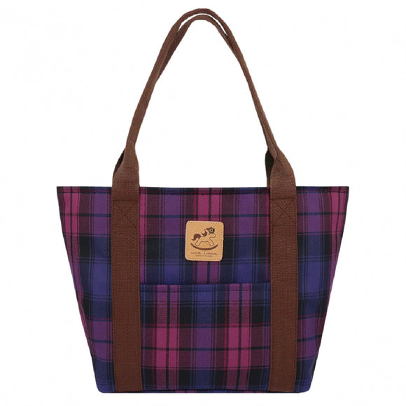 Classic Large Dumpling Shoulder Bag | UMA039 | Checkered Purple