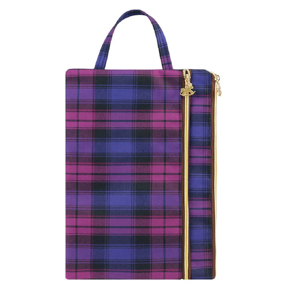 A4 File Bag | A4文件袋 | UMA188 | Checkered Purple