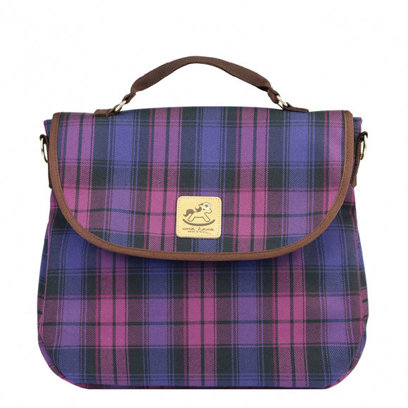 Checkered 3 Ways Bag | UMA044CH | Checkered Purple
