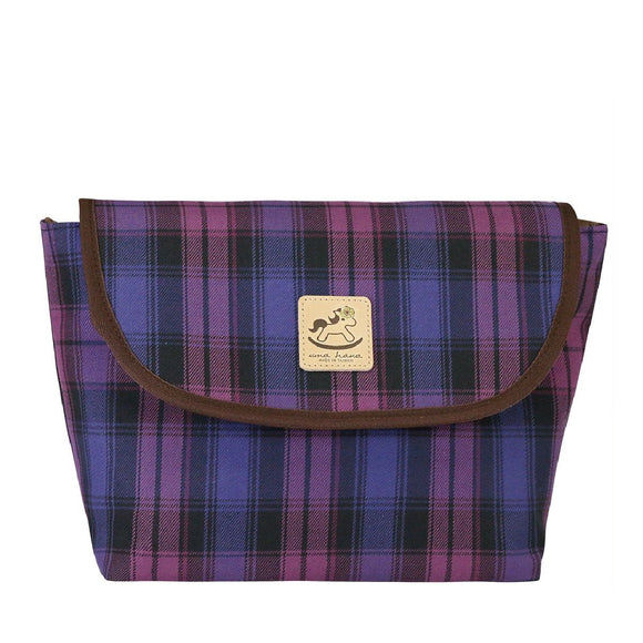 Uma hana Waterproof Checkered Messenger Crossbody Bag | 中側背包 | UMA045CH | Checkered Purple