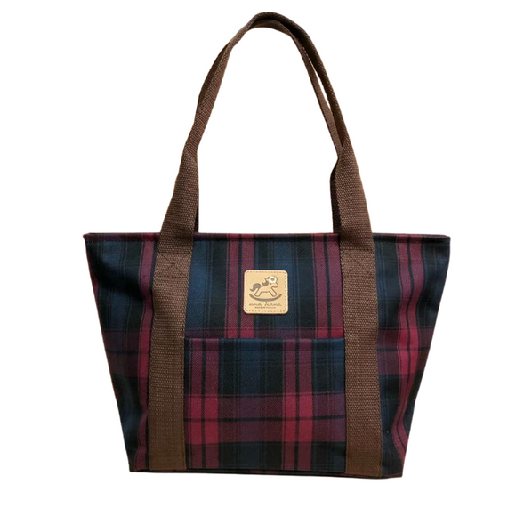 Classic Large Dumpling Shoulder Bag | UMA039 | Checkered Red