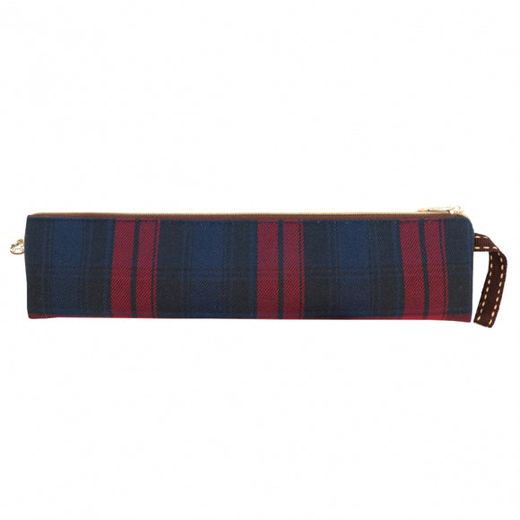 Checkered Long Chopstick Pouch | UMA216CH | Checkered Red
