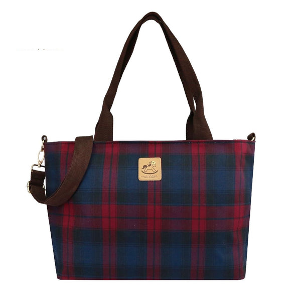 *Exclusive Online* Waterproof Checkered 14-Inch Laptop Bag | UMA037CH | Checkered Red