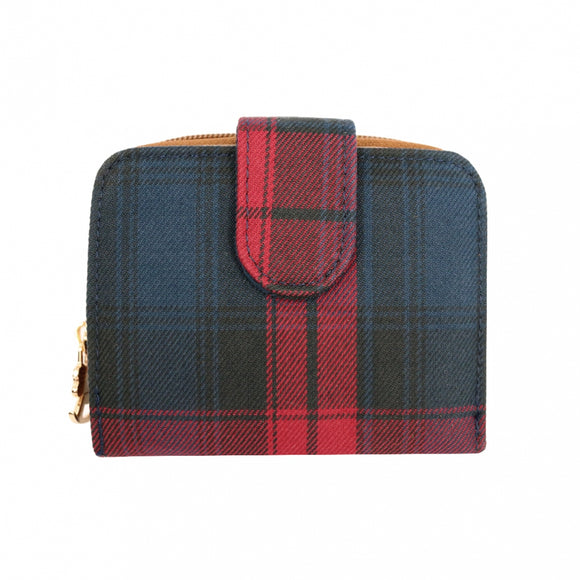 Uma hana Waterproof Checkered Button Short Wallet | 短夾 | UMA215CH | Checkered Red