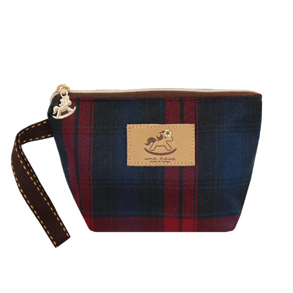 Dumpling Cosmetic Pouch (S) | UMA007CH | Checkered Red