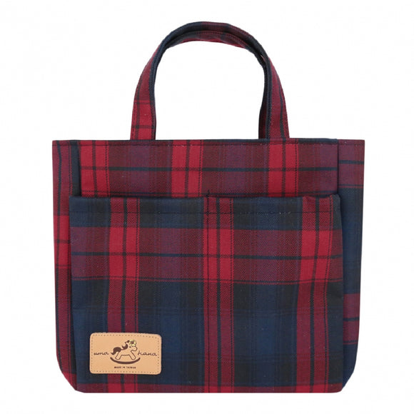 Double Pocket Bag | UMA005CH | Checkered Red