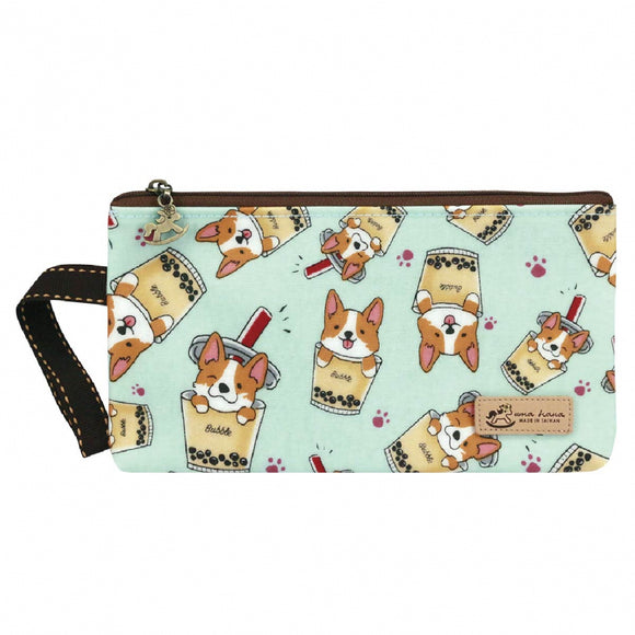 Good Storage Bag | Mask Pouch | UMA231 | Corgi Bubble Tea Green