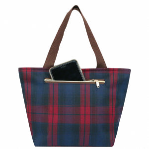 Waterproof Checkered Travel Tote Bag | UMA046CH | Checkered Red
