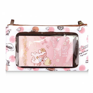 *NEW* Waterproof 3 Layers Mobile Sling Bag 5.8 inch | UMA219 | Valentine Cat Pink