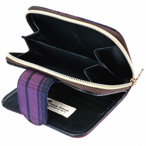 Uma hana Waterproof Checkered Button Short Wallet | 短夾 | UMA215CH | Checkered Black