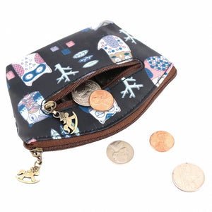 Shell Coin Pouch with Keyring | UMA166 | Star Dark Blue