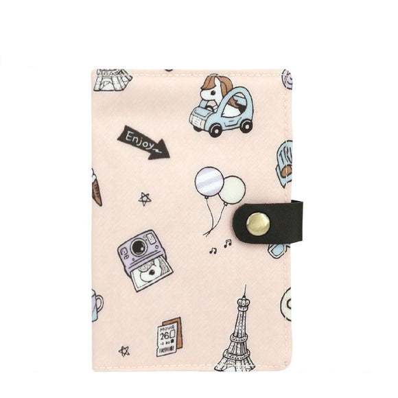 Waterproof Button Passport Cover | UMA096 | Denim Pony Pink