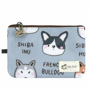 Lanyard Card Holder (Vertical) | UMA042 | Dog Friends Grey