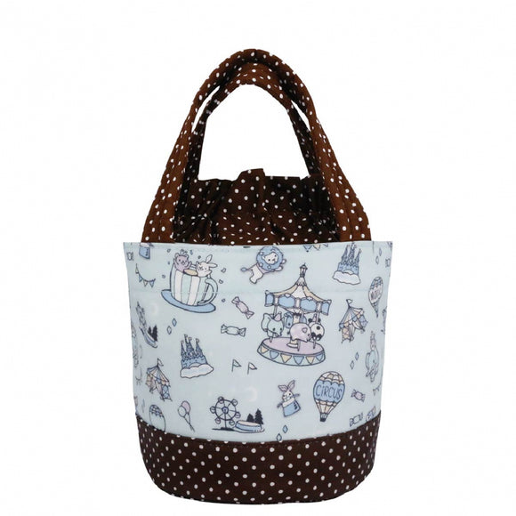 *NEW ARRIVAL* Uma hana Waterproof Round Lunch Bag | 圓便當袋 | UMA211 | Dream Park Light Blue
