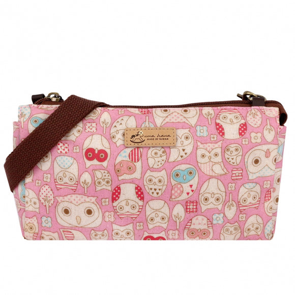 Waterproof Boston Shoulder Bag | 小波頓包 | UMA172 | Owl Forest Pink