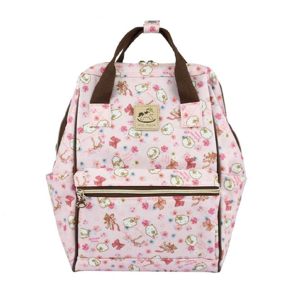 Uma hana Waterproof Frame Backpack (M) | 開口中後背 | UMA124 | Flower Sheep Pink