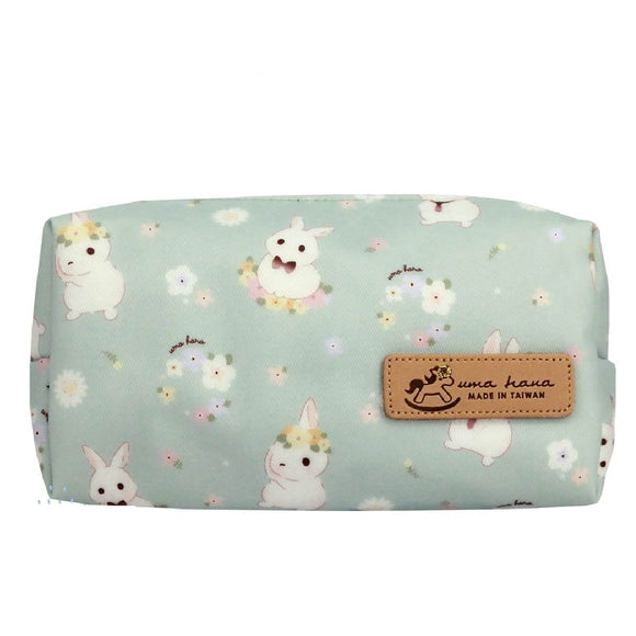 Box Coin Pouch | UMA232 | Flower Bunny Pastel Green